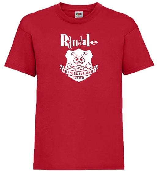 """Randale Mini-Shirt """"Wappen"""" in Größe 92, Feuerwehr Rot"""