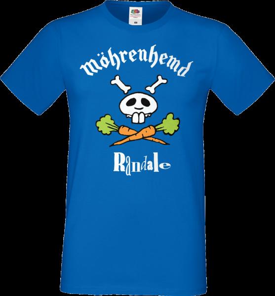 """T-Shirt: Randale - """"Möhrenhemd"""" (royalblau)"""