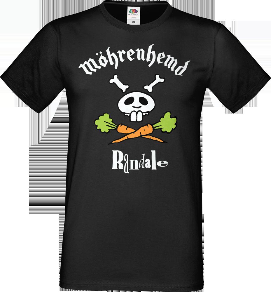 "T-Shirt: Randale - ""Möhrenhemd"" (schwarz)"