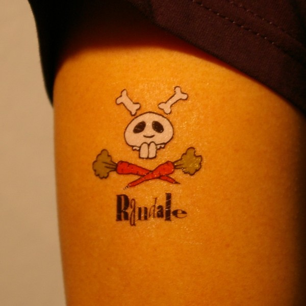 Randale Rubbel-Tattoo