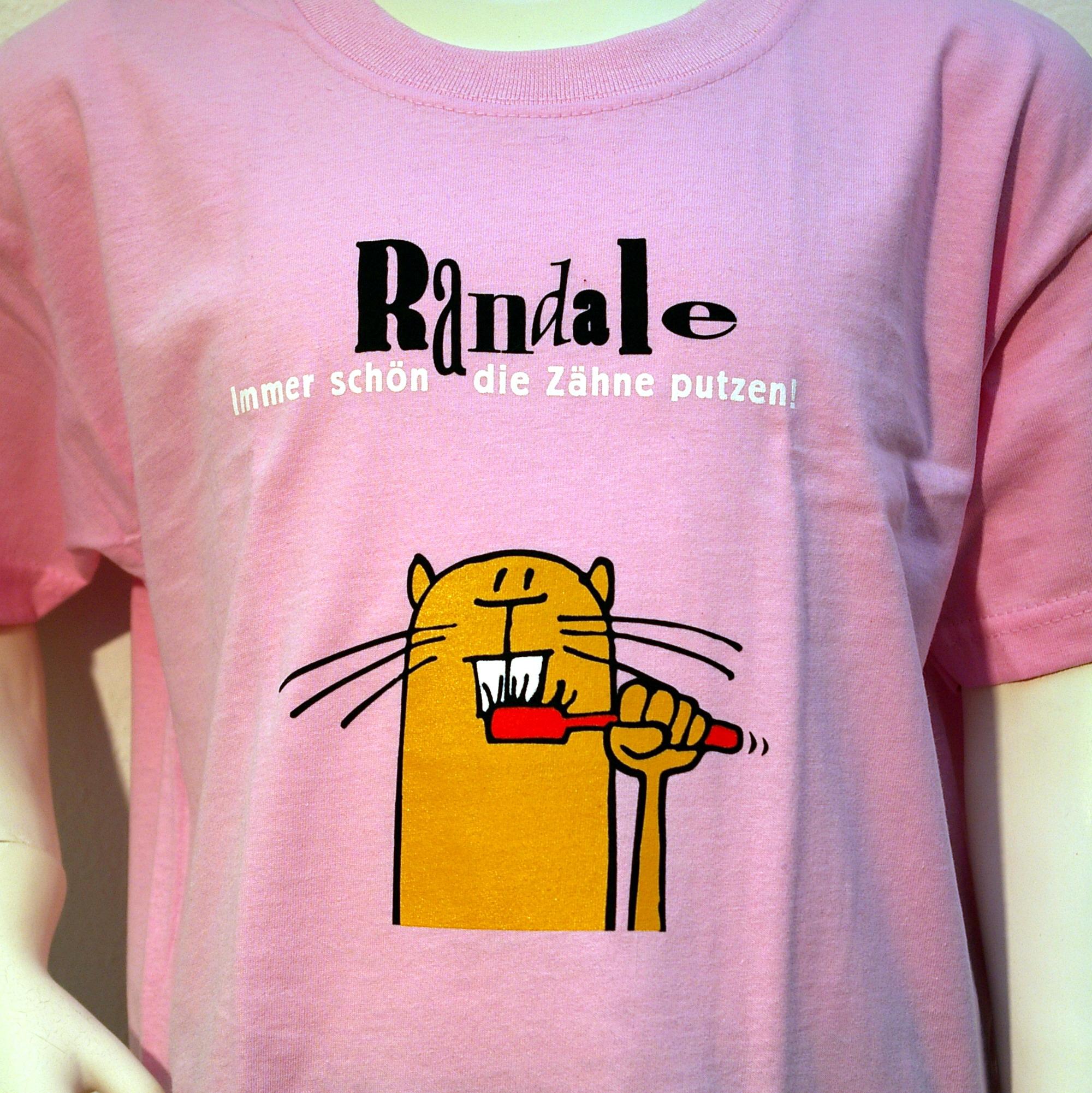 """T-Shirt: Randale - """"Immer schön die Zähne putzen"""" (rosa)"""