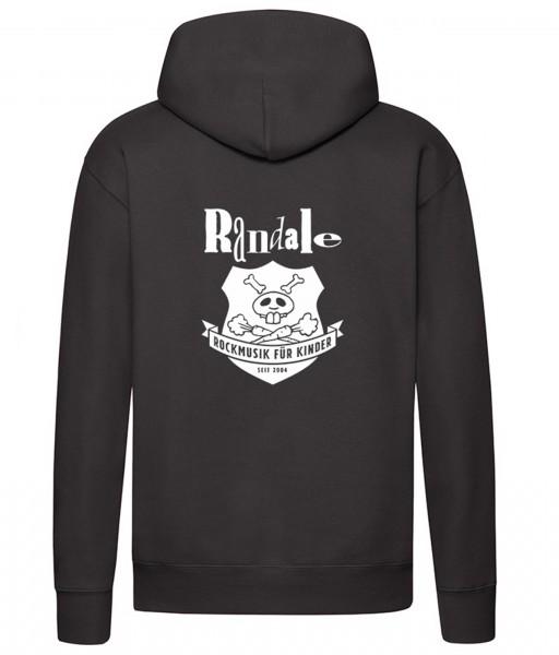 Kapuzenpullover mit Randale-Wappen für Erwachsene in Schwarz