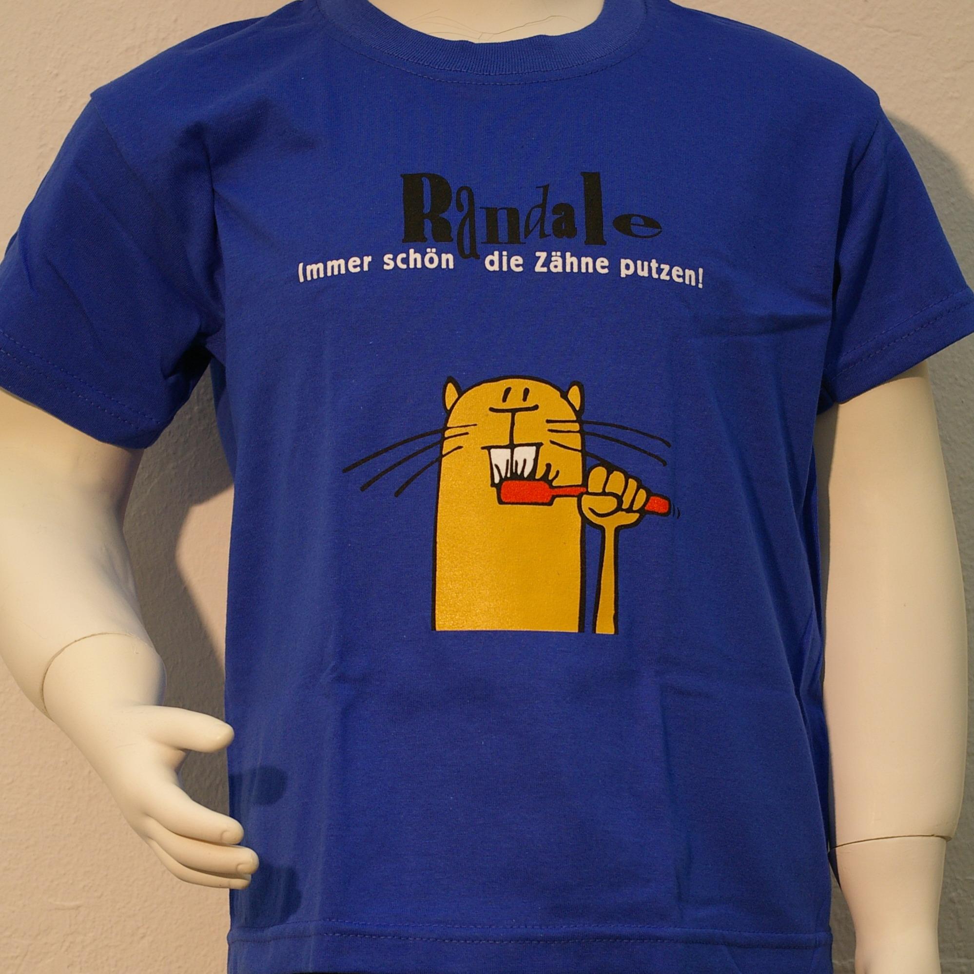 """T-Shirt: Randale - """"Immer schön die Zähne putzen"""" (blau)"""